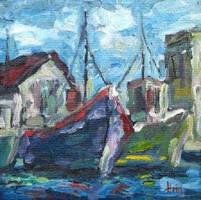 Harbour Scene by HeinVDMArtist