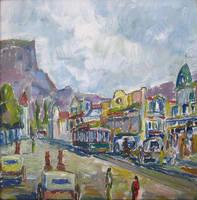 Adderley St 1890s - Cape Town by HeinVDMArtist