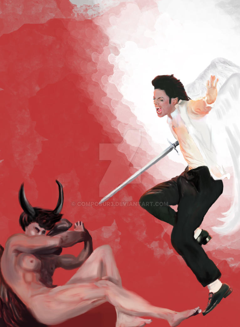 archangel michael vs archangel lucifer painting by