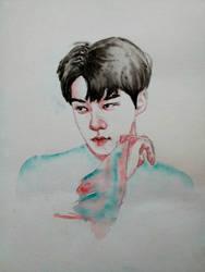 Sehun | Waterolor Sketch by DianaMoris