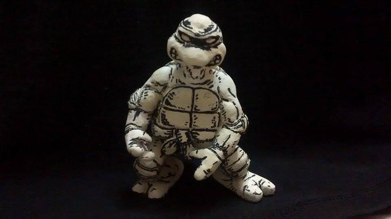 Mirage TMNT clay figure by DSenderM