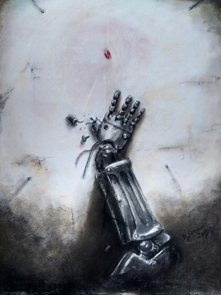 Pastel Painting Automail Arm Fullmetal Alchemist by DSenderM