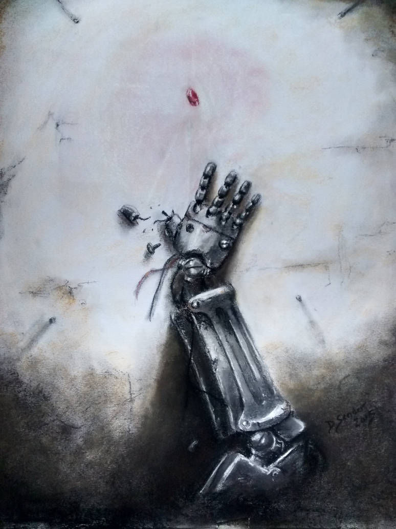 Pastel Painting Automail Arm Fullmetal Alchemist