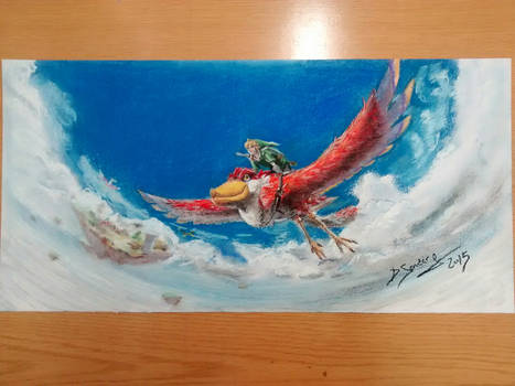 Pastel Painting Zelda Skyward Sword