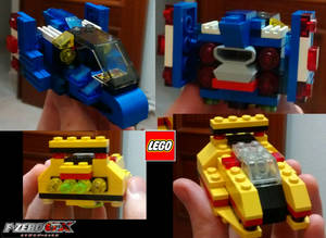 LEGO Blue Falcon and Golden Fox FZero