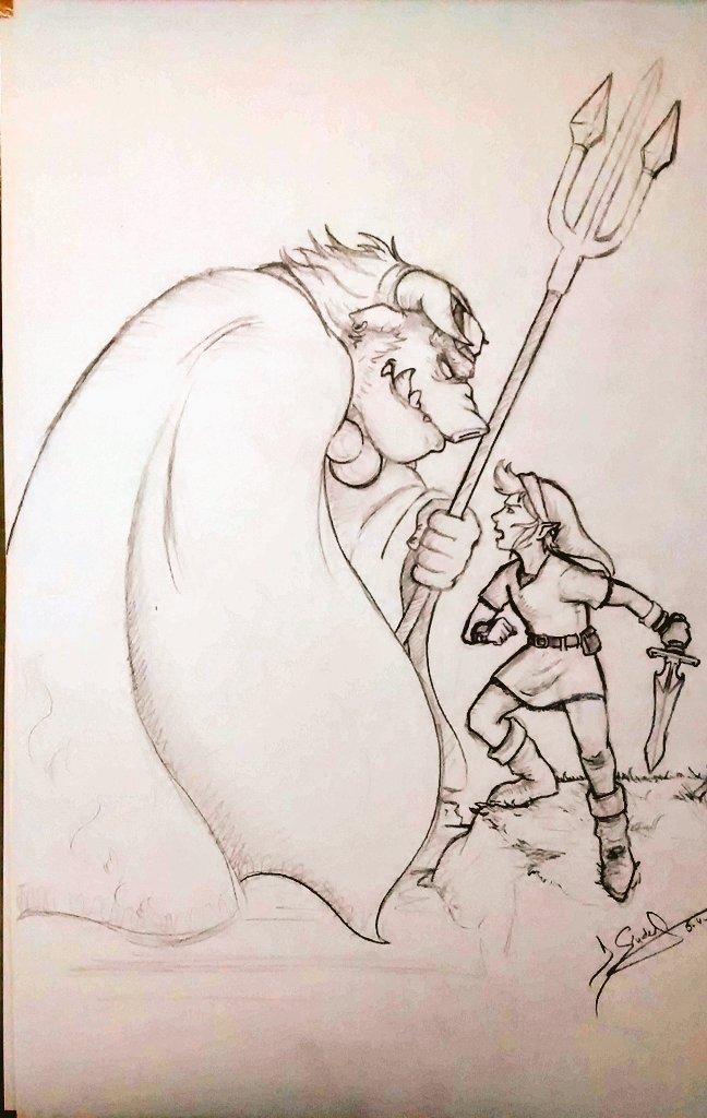 Link VS Ganon by DSenderM
