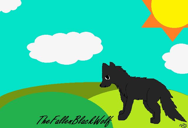 TheFallenBlackWolf Gift by Rechuli