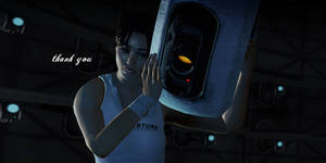 Chell and GLaDOS Wallpaper