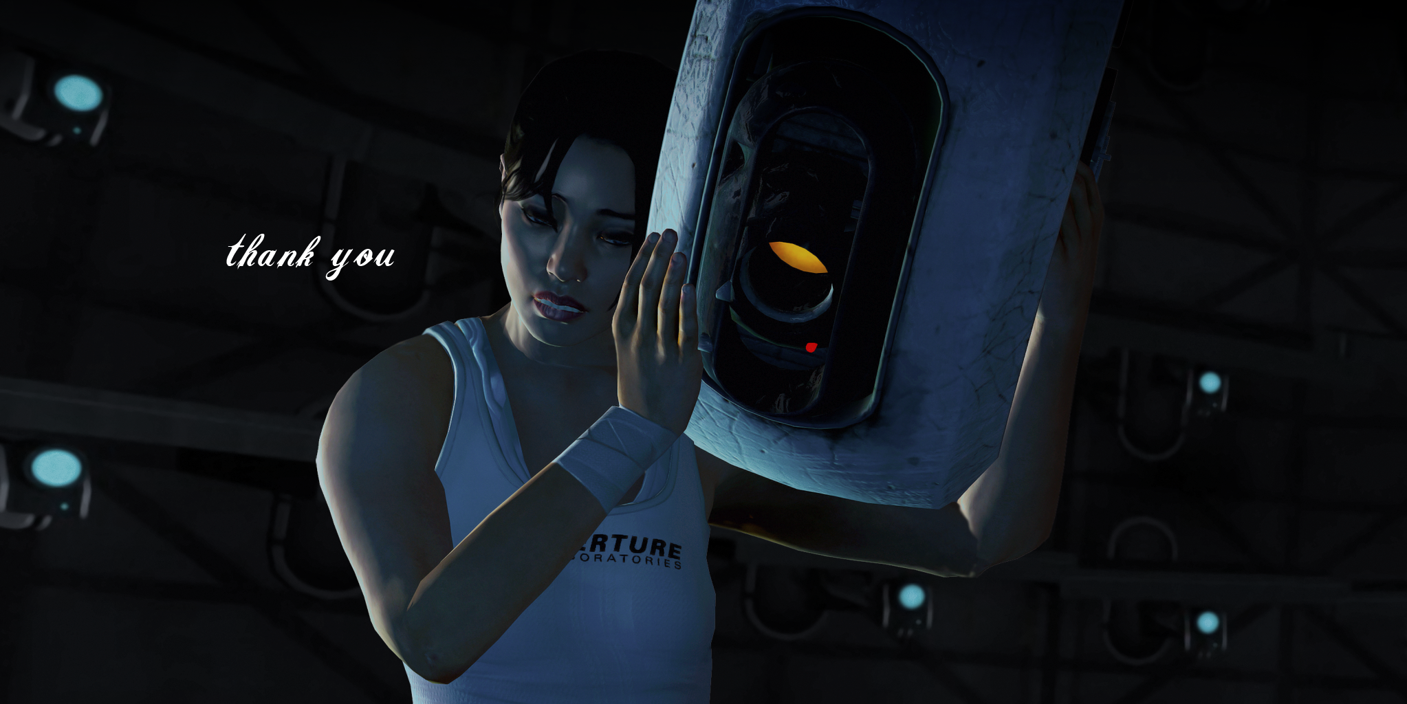 Chell And GLaDOS Wallpaper By Nightfable On DeviantArt
