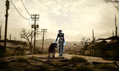 Wasteland Effect - Jack and Eezo by Nightfable