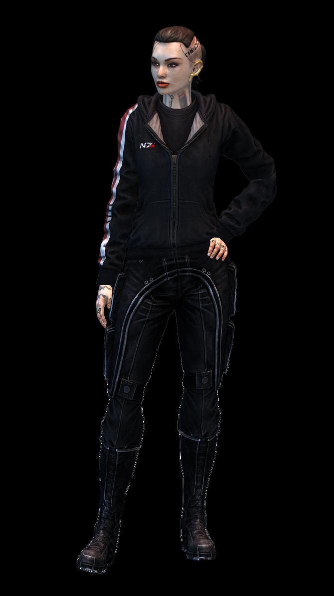 Mass Effect 3 Jack N7 Hoodie model by Nightfable