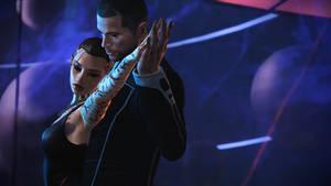 Shepard taking Jack out dancing (wallpaper)