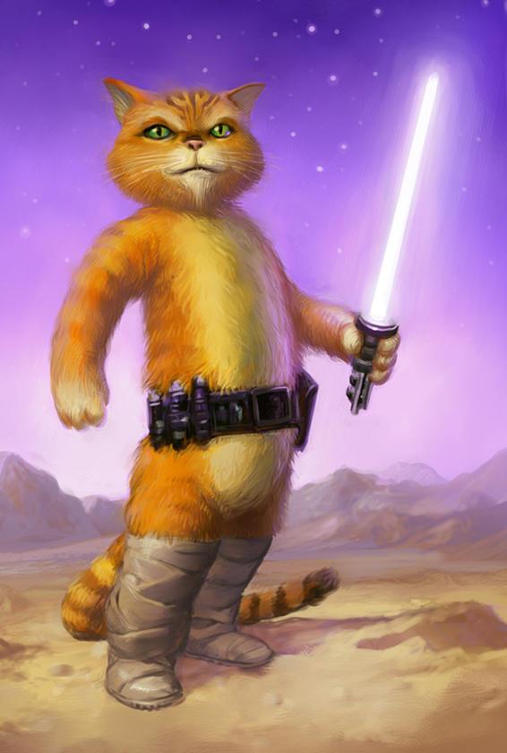 Jedi Puss in Boots by RangerScott