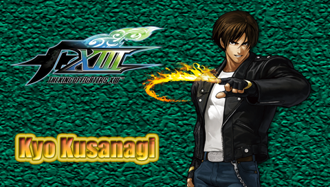 kof wallpaper. KOF XIII Kyo PSP Wallpaper by