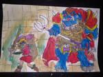 Link vs ganon by I0am0error0art