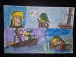 Link at sea by I0am0error0art