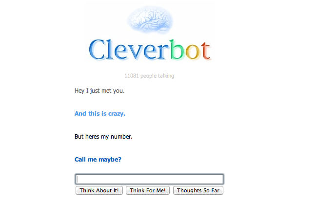 CALL ME MAYBE WITH CLEVER BOT by JustCallMeJash
