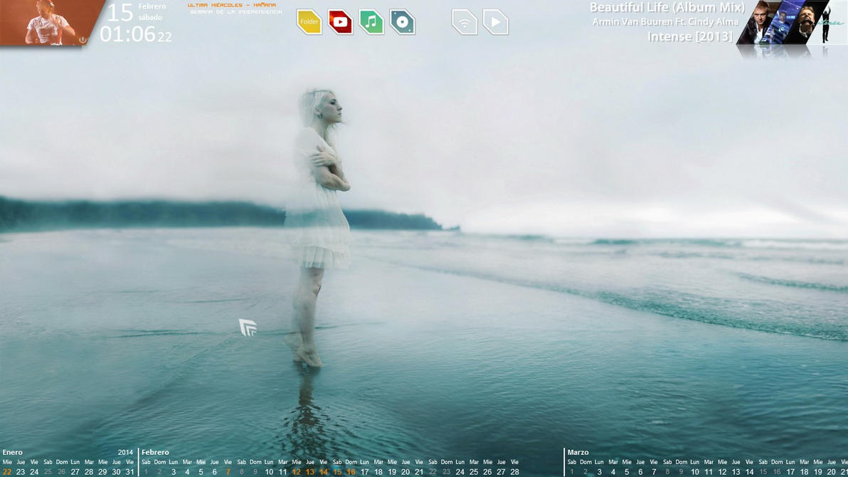 Screenshot - February 2014 - Desktop v1 by evildarklxs