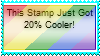 This Stamp Just Got 20% Cooler by Teamscout11