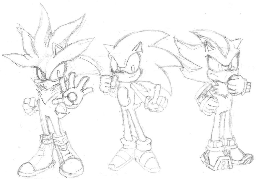 sliversonicshadow drawing by link2021 on DeviantArt
