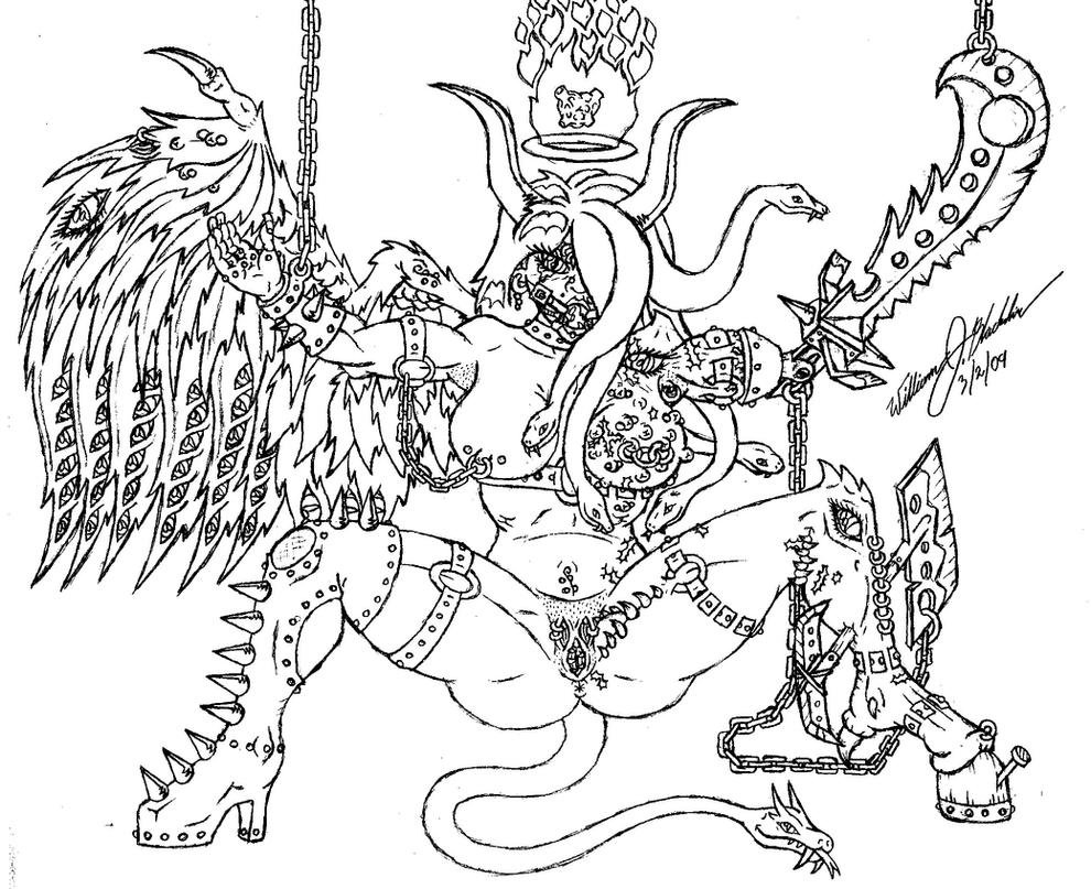 coloring pages of fallen angels - photo#37