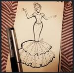 Cinderella fashion sketch