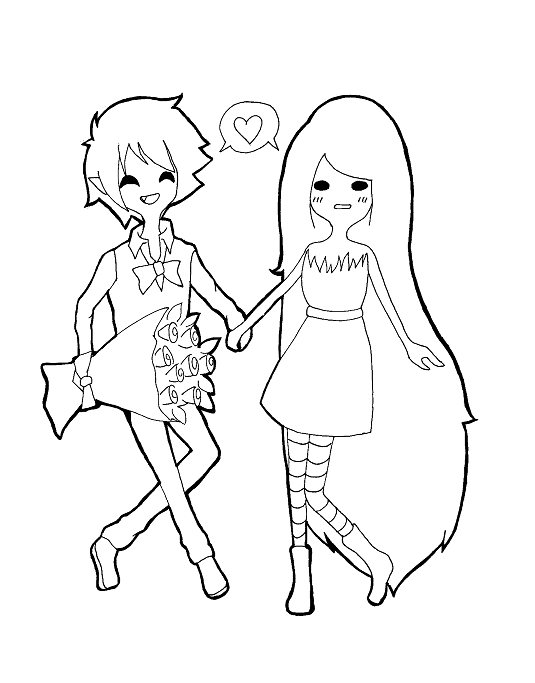 Marshall lee and marceline by chalovesapples on deviantart for Marceline coloring pages