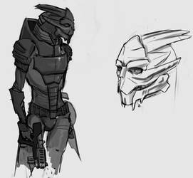 Turian sketch by mauritzon