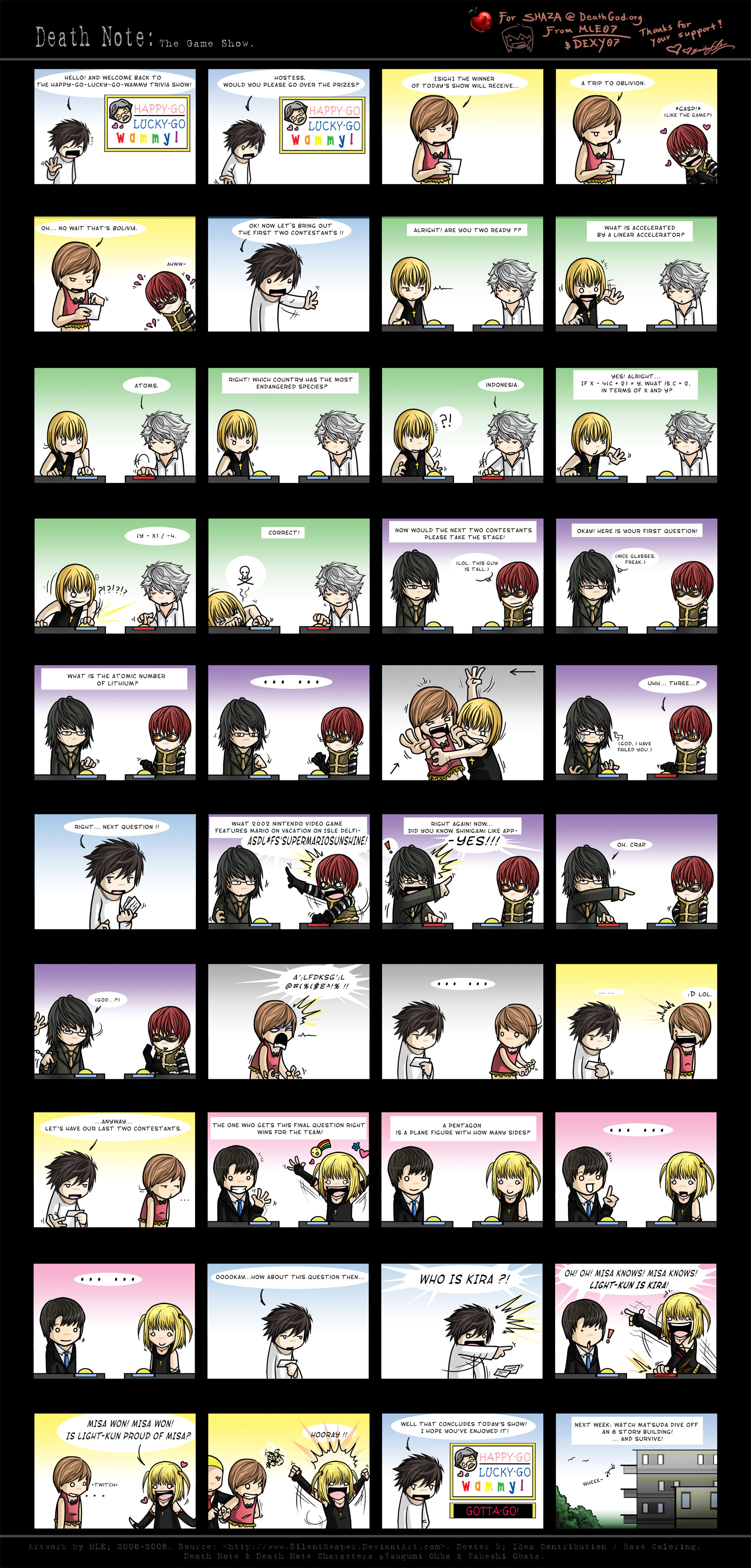 //Deathnote Commmiiiiiics~  Stupid Stretched out page Death_Note__The_Game_Show__by_SilentReaper
