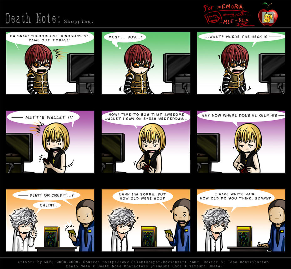 Death Note: Shopping. By SilentReaper On DeviantArt