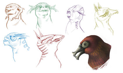 Creatures Sketches by eychanchan