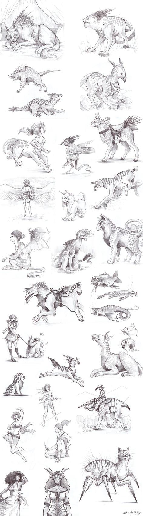 Sketchbook Crap Spring09 by SilentReaper