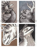 Creature Cards by eychanchan