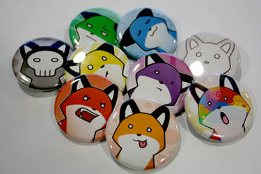 Rainbow StupidFox Pin Set by eychanchan