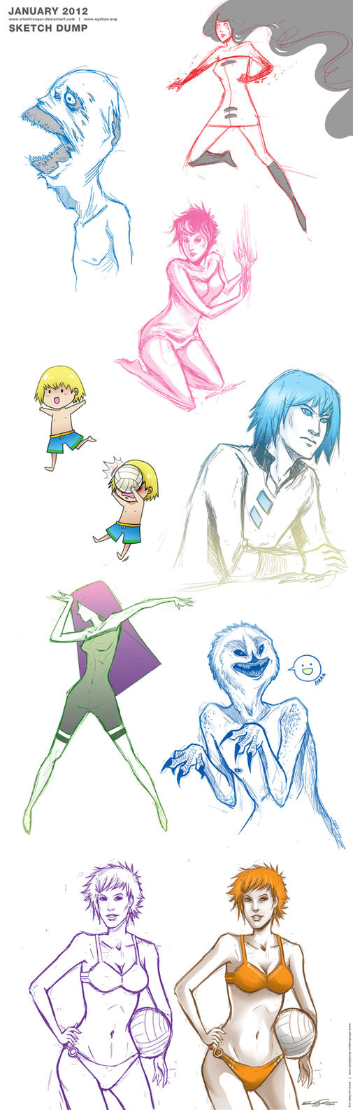 JAN2012  - Sketch Dump by SilentReaper