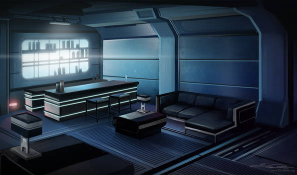 Mass Effect 3 Fanart - Normandy Lounge by eychanchan