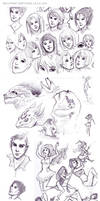 Ballpoint Sketches 2012 by eychanchan