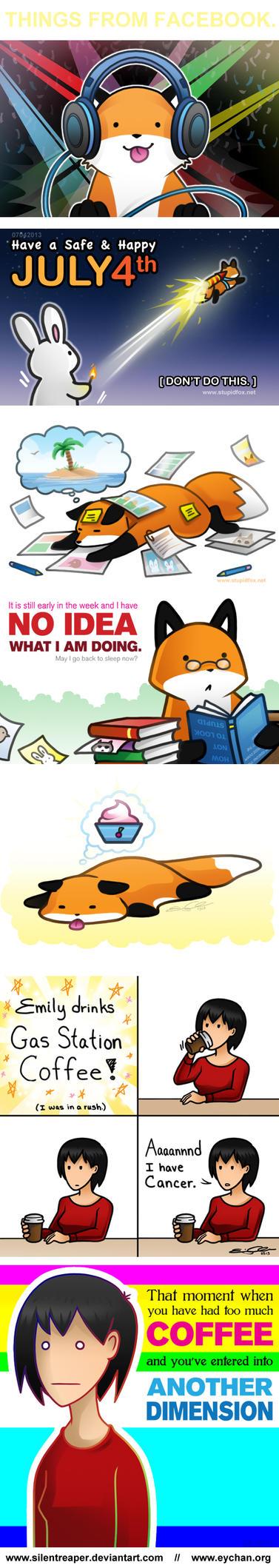 StupidFox and Random Things by SilentReaper