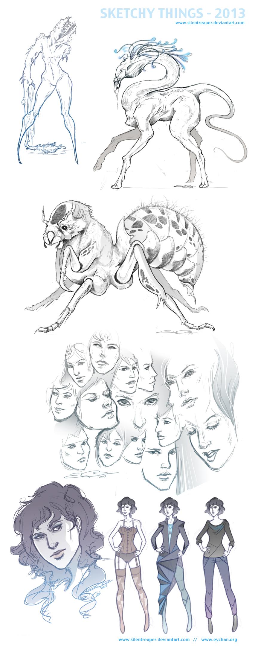 Sketchy Things by SilentReaper