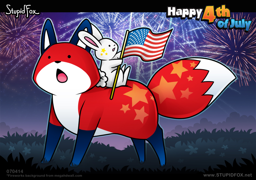 StupidFox - Happy 4th of July by SilentReaper