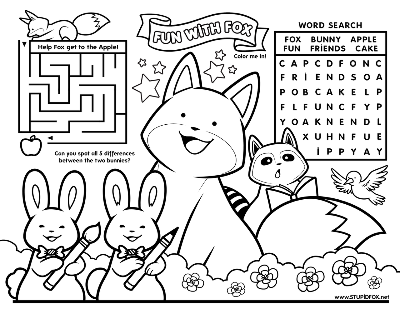 Fun with StupidFox - Placemat by SilentReaper on DeviantArt