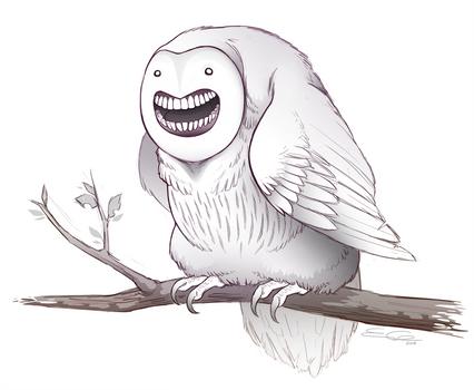 Fat Happy Owl
