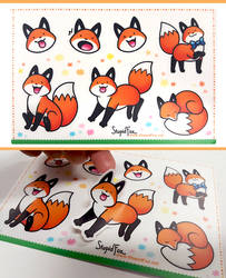 StupidFox Stickers by eychanchan