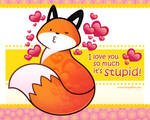 Foxy Valentine by eychanchan