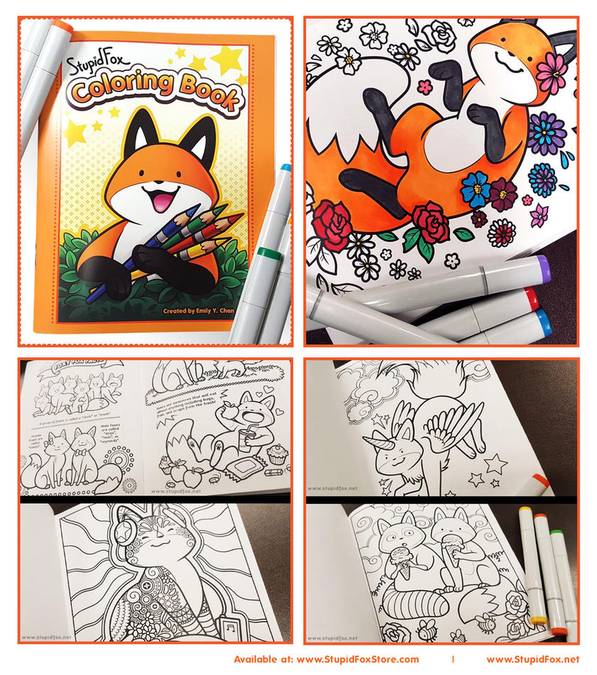 StupidFox Coloring Book by SilentReaper