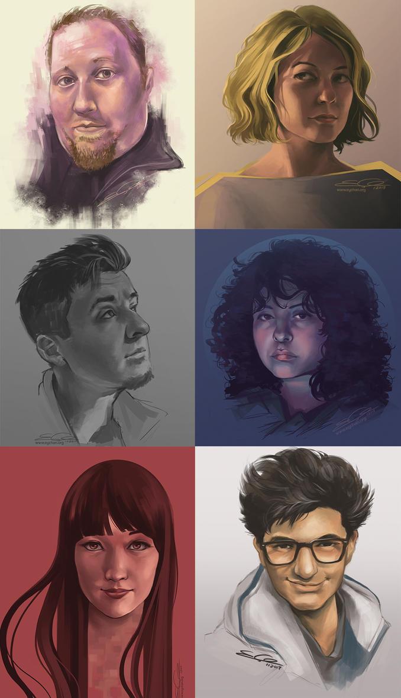 Quick Portrait Paints by eychanchan