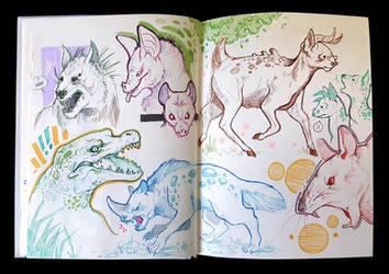 Sketchbook Page Creatures by eychanchan