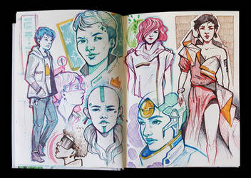 Sketchbook Page by eychanchan