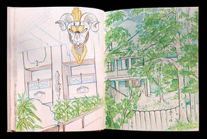 Sketchbook Page Backyard