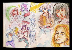Sketchbook Page Dancers